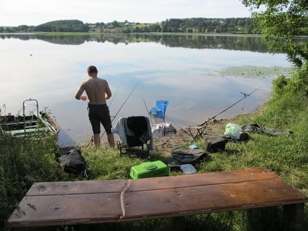 Feeder žvejyba. Žvejybos vieta.