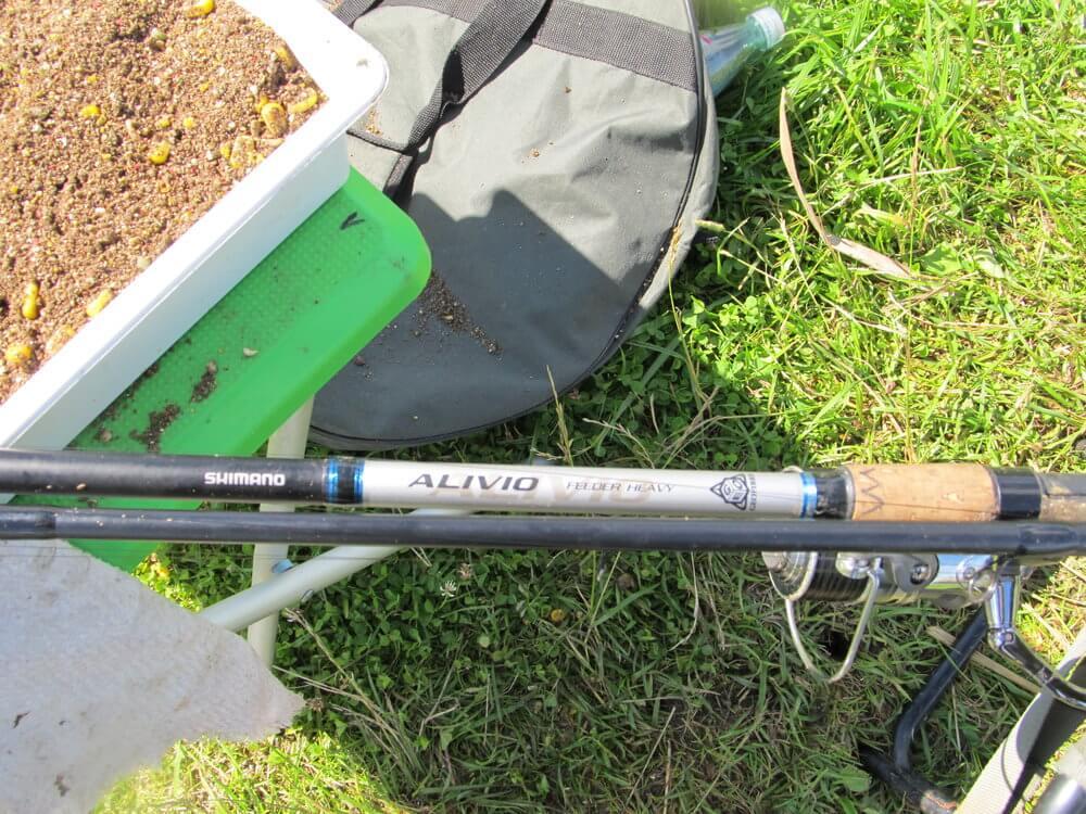 Heavy Feeder žvejyba Vilkokšnyje. Shimano Alivio Heavy Feeder meškerykotis.